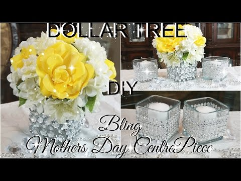 DIY DOLLAR TREE BLING MOTHERS DAY CENTREPIECE PART 3 PETALISBLESS 🌹