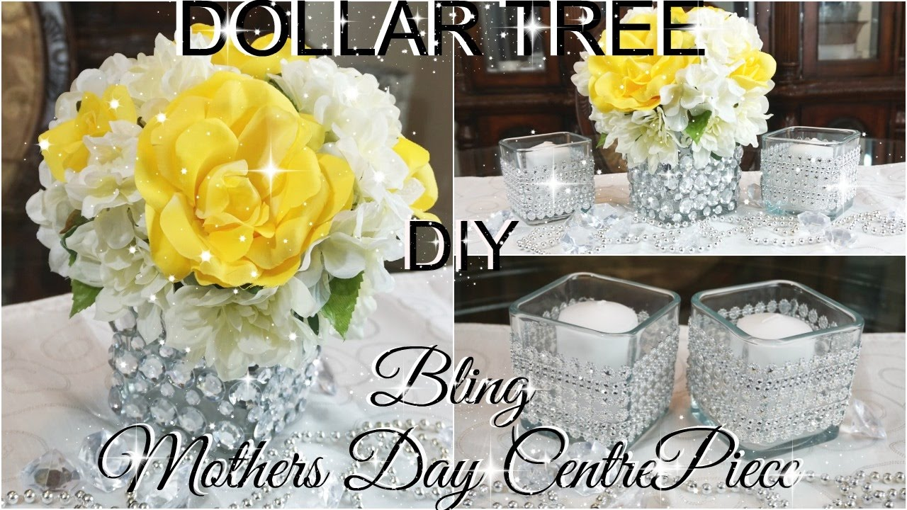 DIY DOLLAR TREE BLING MOTHERS DAY CENTREPIECE PART 3
