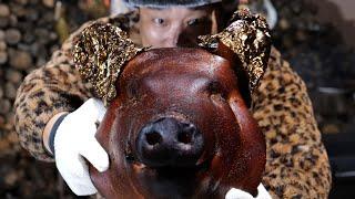 저팔계 머리로 바베큐를 해봤습니다. 돼지머리 본김에 고…