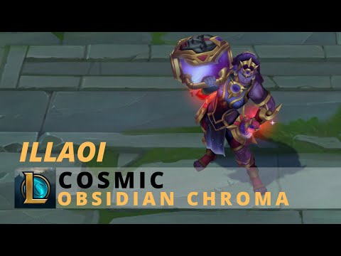 Cosmic Illaoi Obsidian Chroma - League Of Legends