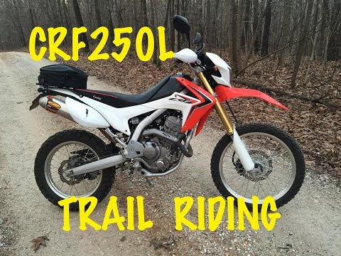 Trail Riding Honda CRF250L Dual Sport Motocycle Motovlog Missouri Forest