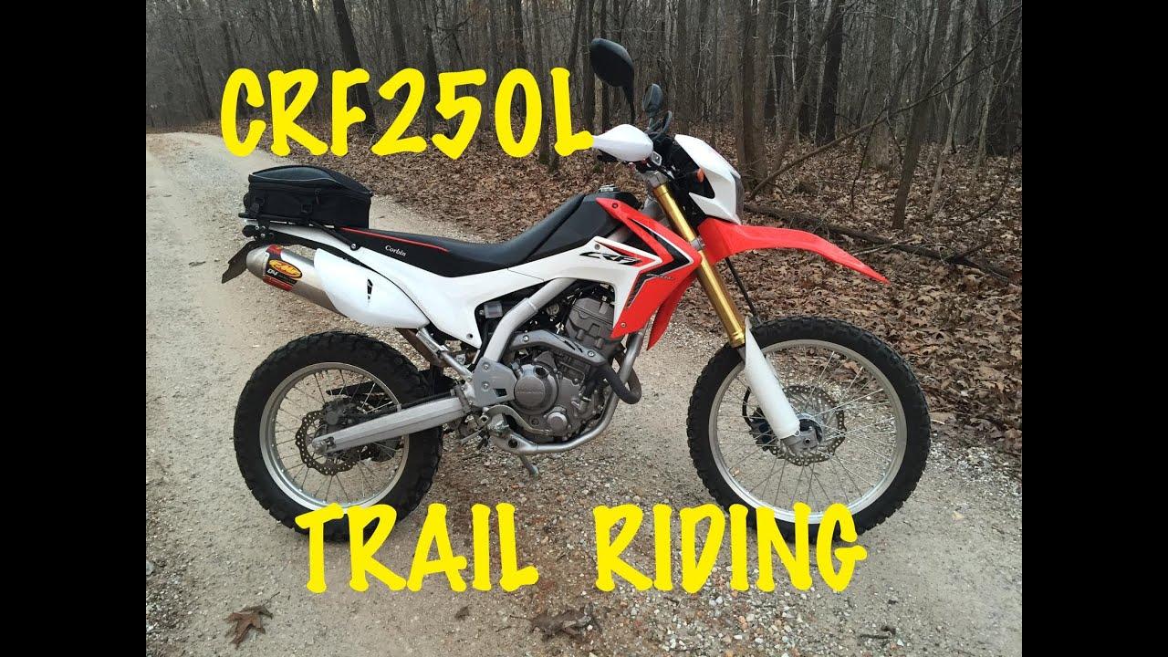 Trail Riding Honda CRF250L Dual Sport Motocycle Motovlog Missouri