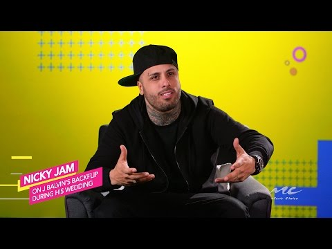 Nicky Jam Reacts to J Balvin's Backflip at His Wedding