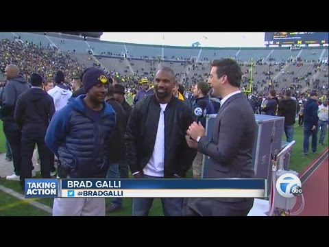 Brad Galli with Desmond Howard and Charles Woodson