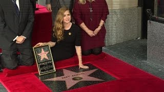 American actress Amy Adams gets a Hollywood star