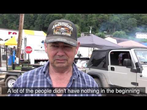 Jerry White visits flood-ravaged Clendenin, West Virginia