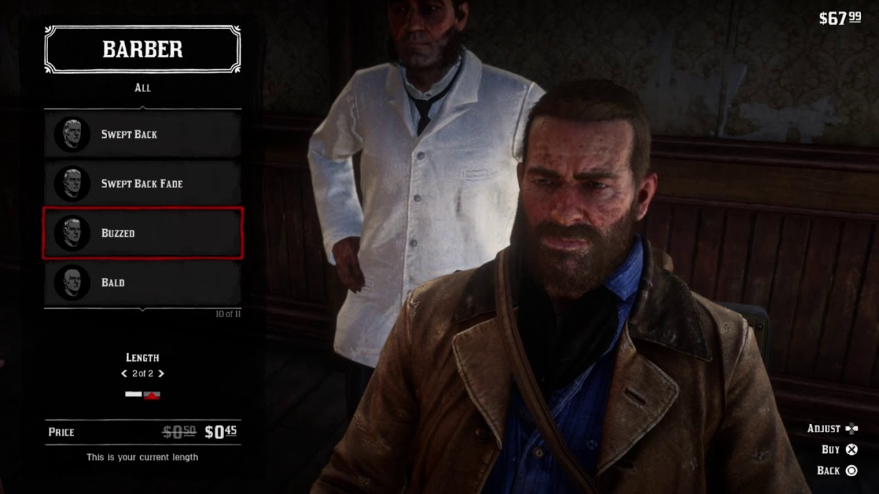 Red Dead Redemption 2 All Haircuts Youtube