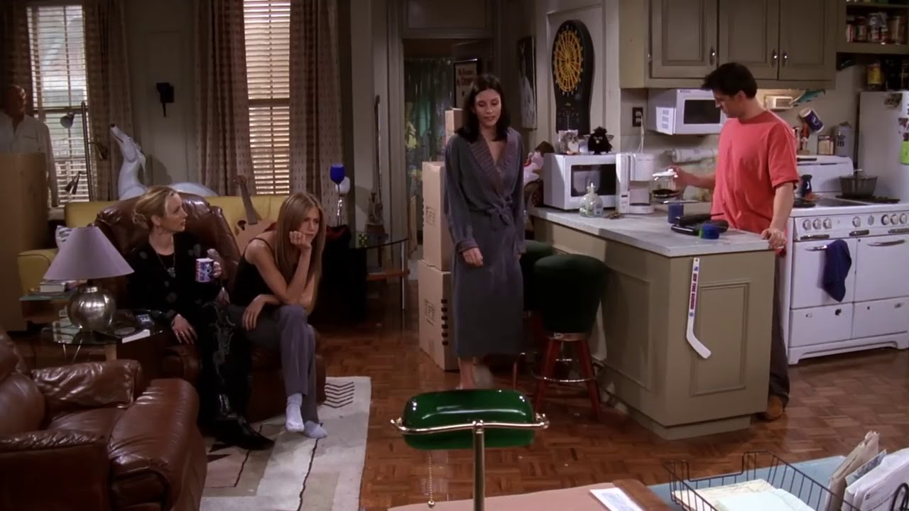 Download Friends, season 5 episode 12. Ross slept with Janice.