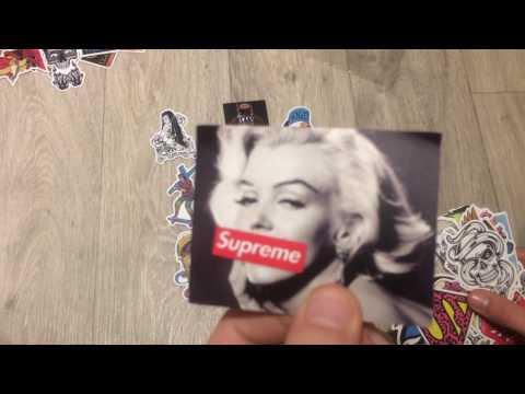 Cheap AF - Random 150 pcs Stickers Unboxing (Supreme, Santa Cruz, Jordan, Star Wars, etc.)