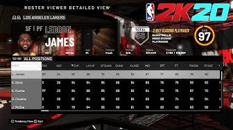 NBA 2K20 Full Roster Ratings - Current Players/Legends/WNBA/All-Time Teams/Free Agents
