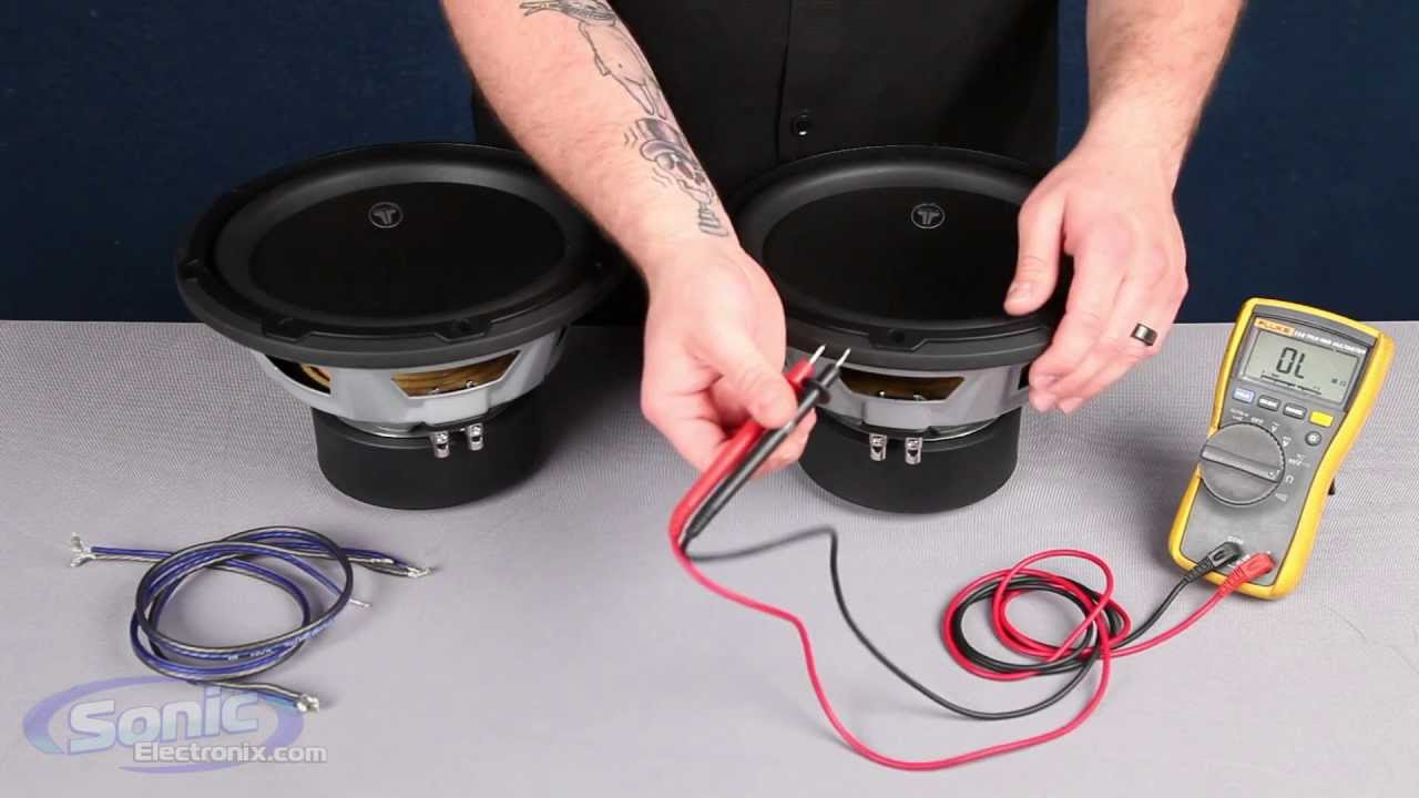 How To Wire Two Single 2 Ohm Subwoofers A 1 Final Impedance Parallel And Series Wiring For Subs Car Audio 101 Youtube