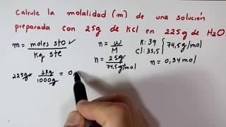 Video Unidades de Concentración, Molalidad [m] download MP3, 3GP, MP4, WEBM, AVI, FLV November 2018