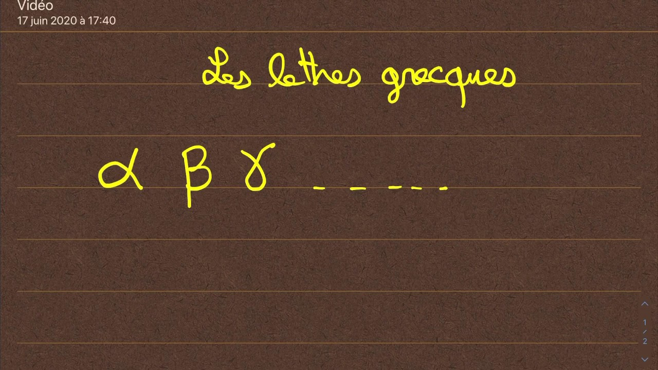 Comment Ecrire Les Lettres Grecques Youtube