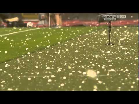 Mad weather in Bruxelles, match interrupted Belgium vs Tunisia