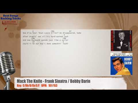 Mack The Knife Frank Sinatra Bobby Darin Vocal Backing Track