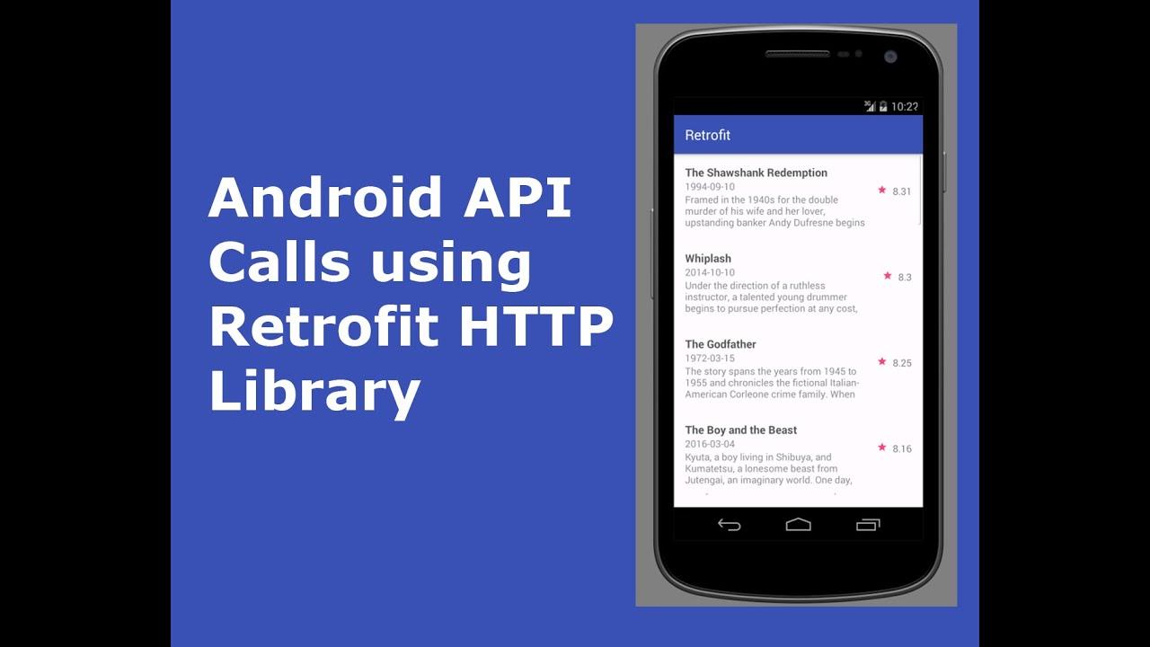 Android JSON API Calls using Retrofit HTTP Library