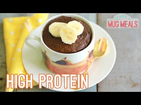 Chocolate Banana High-Protein Mug Cake