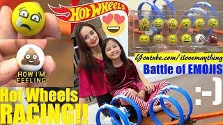 Hot Wheels Racing, EMOJI Marble Race! Cute EMOJI Marble Racing Playtime. Toy Channel Race #37