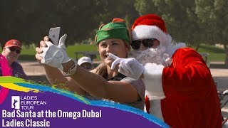 Bad Santa at the Omega Dubai Ladies Classic