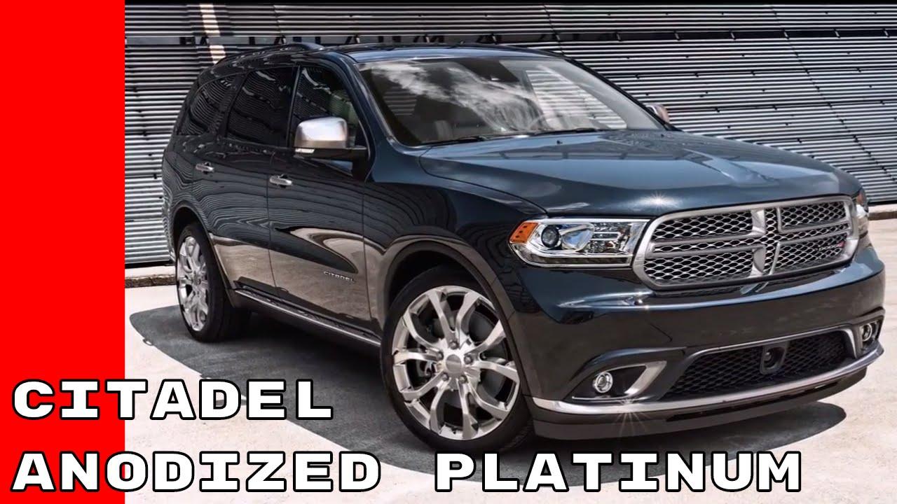 Dodge Durango Citadel >> 2017 Dodge Durango Citadel Anodized Platinum - YouTube
