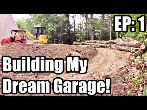 Part 1: Dream Garage Building BIG And On a Budget!  DIY Build Project