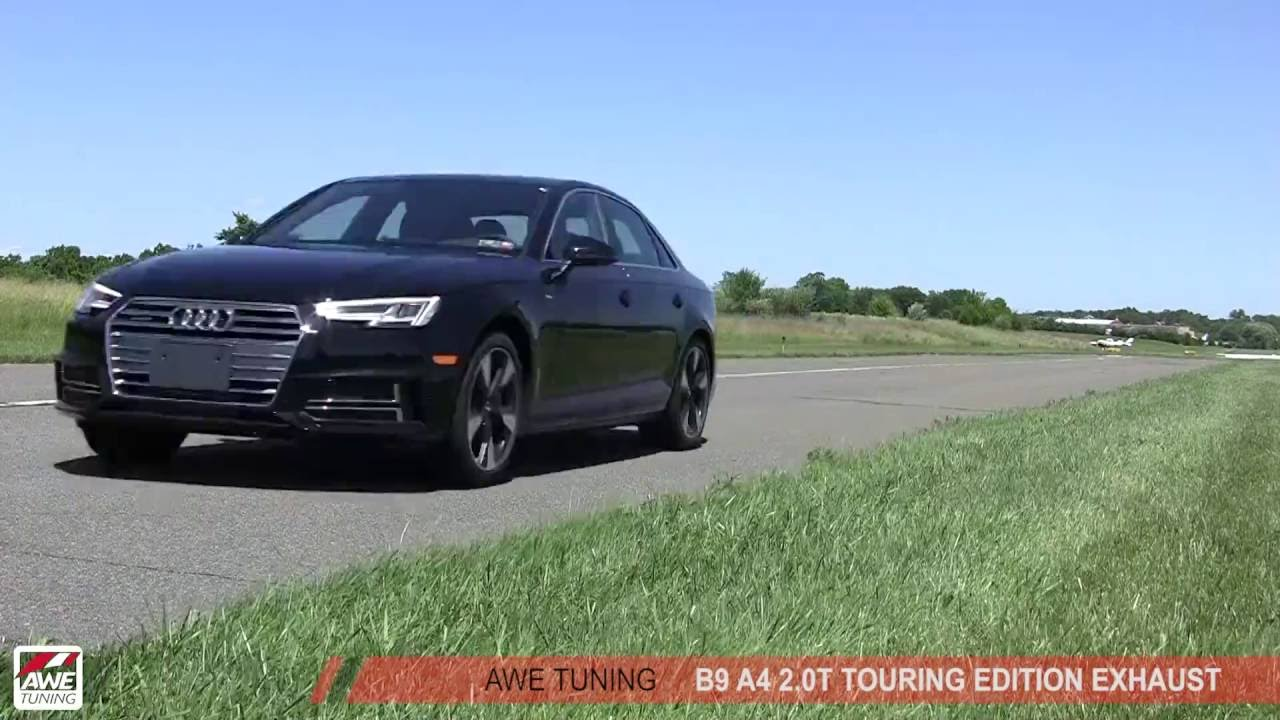 awe tuning audi b9 a4 a5 touring edition exhaust youtube. Black Bedroom Furniture Sets. Home Design Ideas