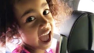 North West Debuts Her Singing Voice & Kim Reacts | Hollywoodlife