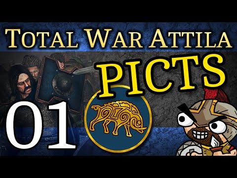 Total War: Attila - 01   Picts Campaign (Celts Culture Pack DLC Gameplay)