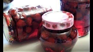 Клубничный сироп и ароматное  клубничное варенье.Как сделать клубничный сироп