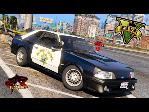 Foxy Lady!◆LSPDFR Highway Patrol 93 Mustang Foxbody SSP◆Real Life Police Mods For GTA 5 #BUDDANATION