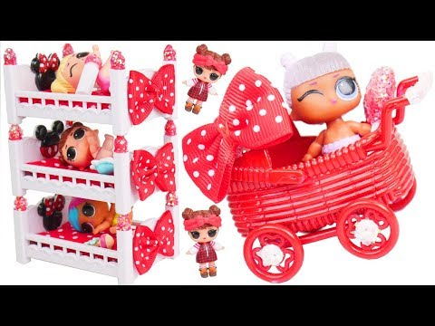 DISNEY! LOL Surprise Doll New Minnie Custom Bedroom in Bubbly Toy Video   Unboxed! Blind Bags
