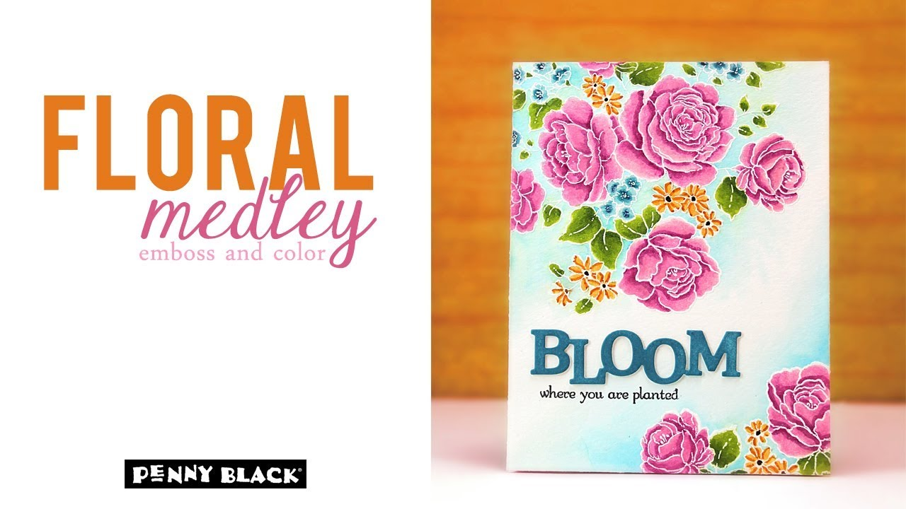 Floral Medley 40-616 Penny Black Cling Stamps