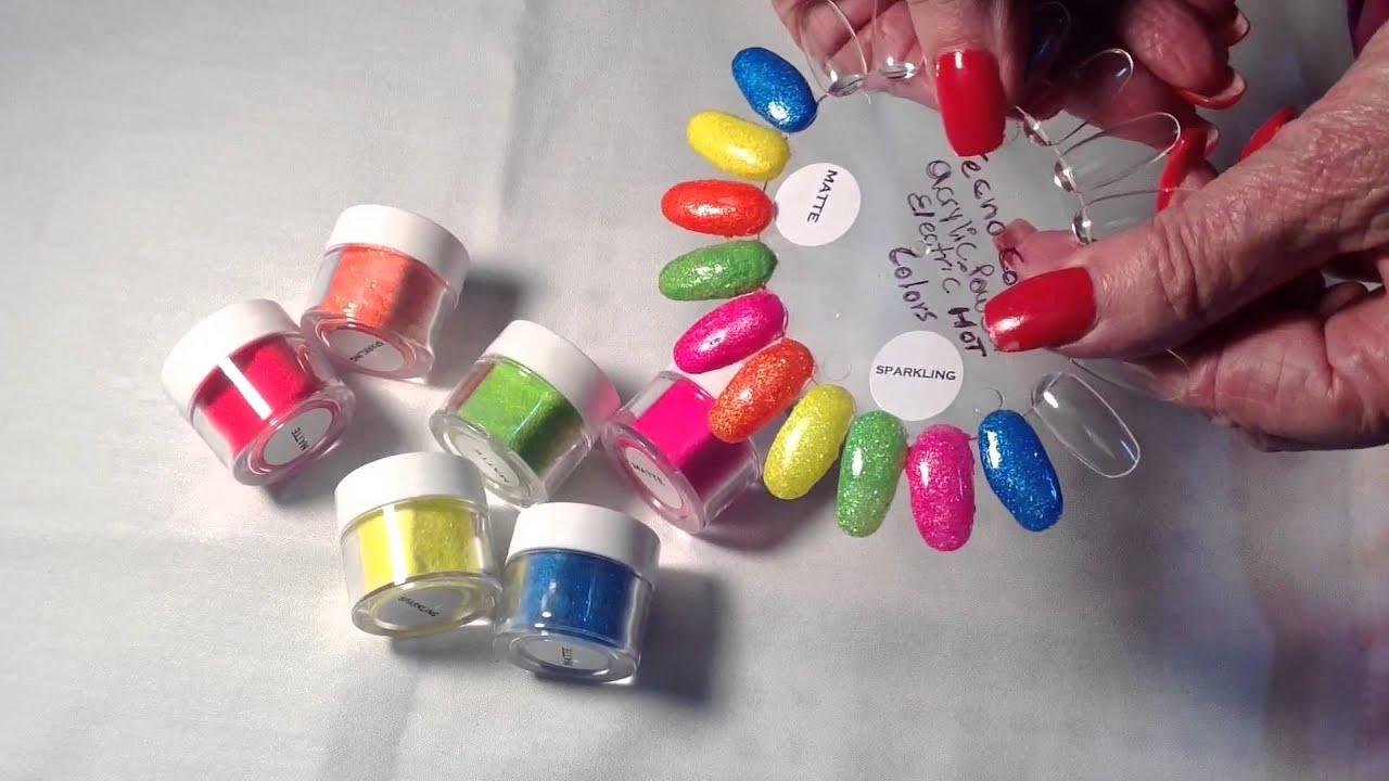 Techno Color Acrylic Powder Sheba Nails - YouTube