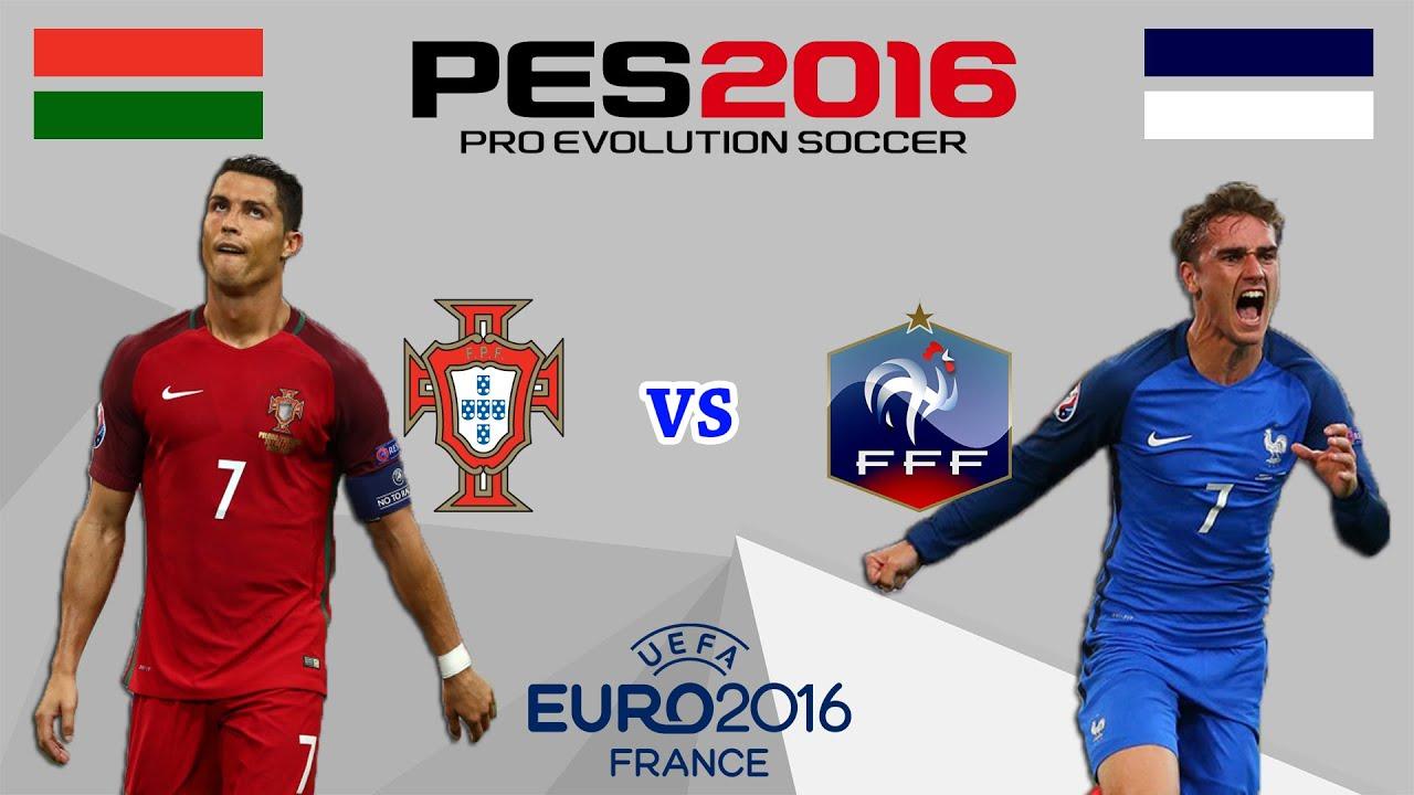 البرتغال ضد فرنسا ! | نهائي كأس امم اوروبا - اليورو 2016 ! | بيس 2016