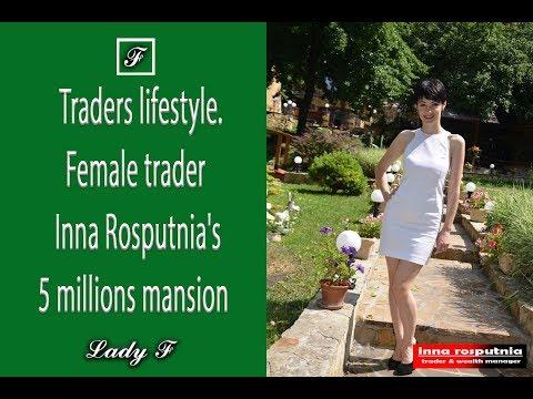 Traders lifestyle. Female trader Inna Rosputnia's 5 millions mansion