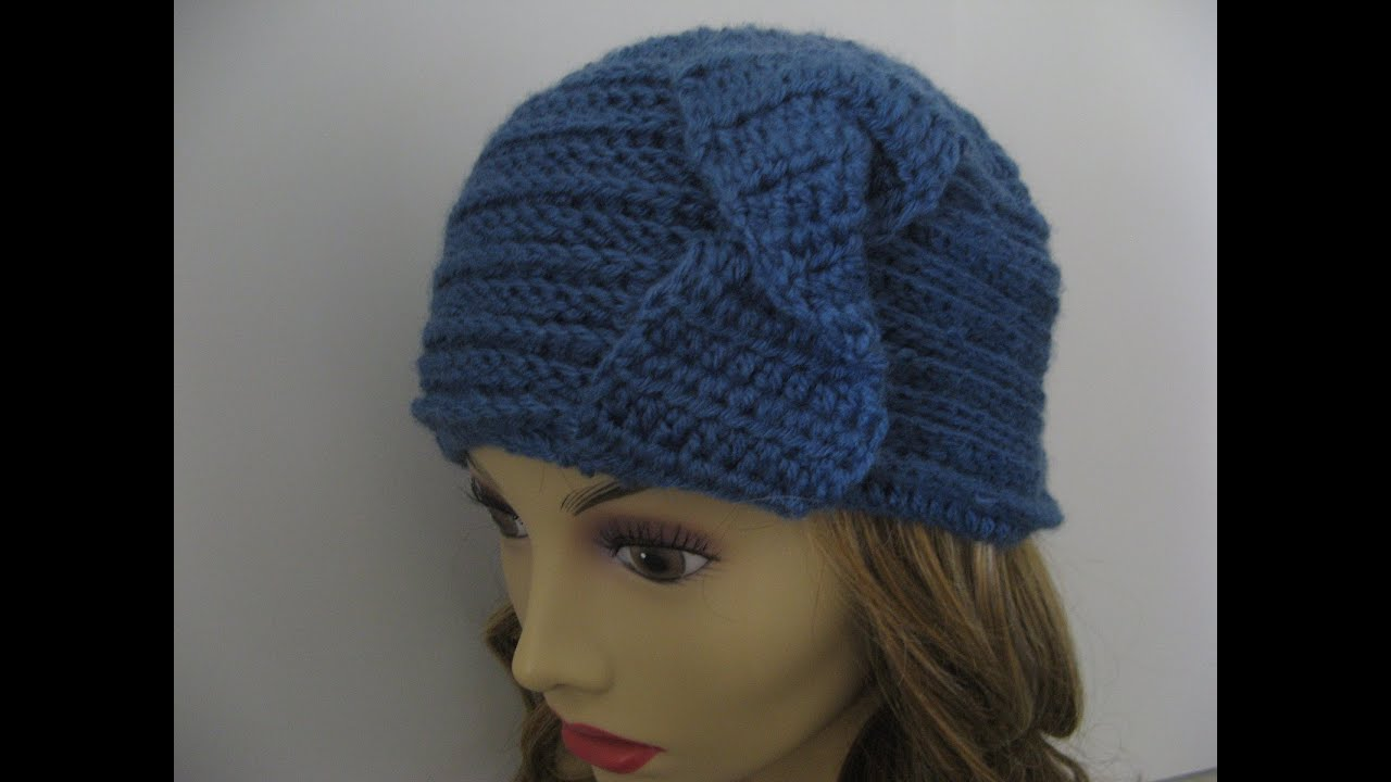 Crochet Rib Stitch : Crochet Horizontal Rib stitch headband and Hat Doovi