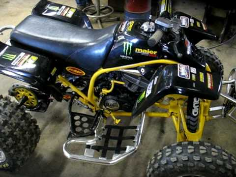 1996 Yamaha Blaster 200 Pro Circuit pipe - YouTube