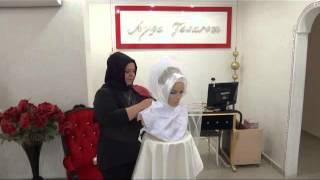 Hazır Gelin Türbanı Nasıl Bağlanır - How To Connect Ready To Wear Bridal Hijab