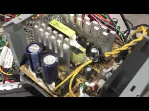 Computer Power Supply Repair - DEAD bad capacitor No / Flashing Green Light