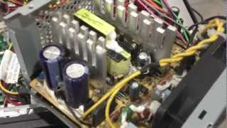 Ремонт блоку живлення комп'ютера - погані конденсатора немає / миготливий зелений