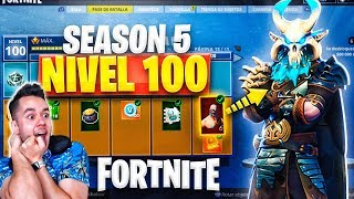 **SEASON 5** SKIN LEVEL 100! ALL PURCHASED - Fortnite: Battle Royale - TheGrefg