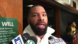 [FULL] Marcus Morris on game-winning shot: 'I don't even know how to spell hesitation'   NBA on ESPN