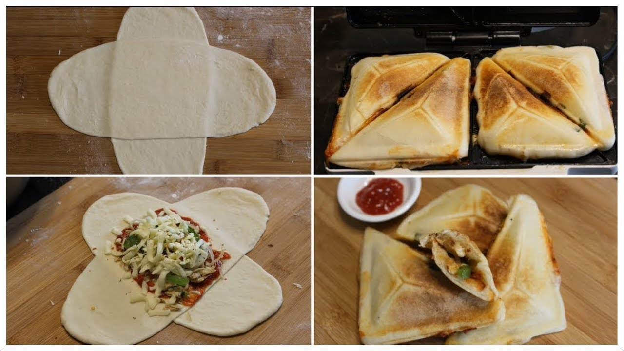 how to make pizza in sandwich maker with pizza dough kids lunch