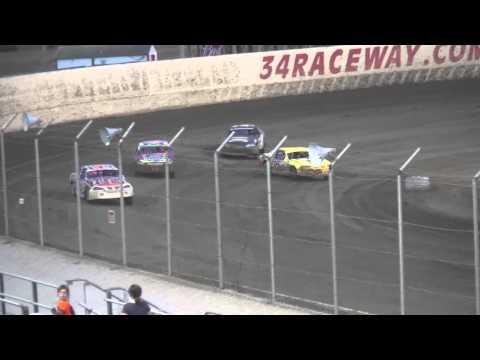 IMCA Stock Car heat & Dash 34 Raceway 9/5/15