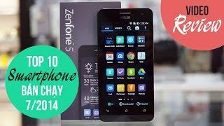 Top 10 smartphone bán chạy tháng 7/2014