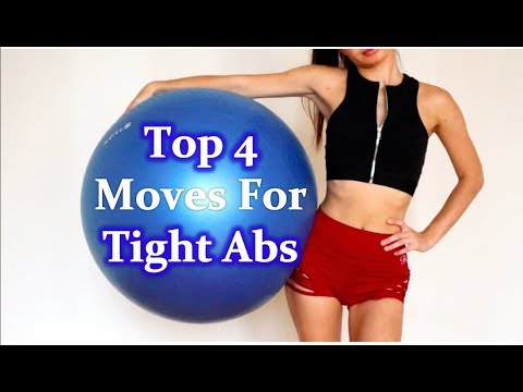 exercise-ball-workout-to-lose-belly-fat-for-beginners-|-top-4-flat-belly-moves