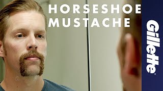 Mustache Styles: How to Shave a Horseshoe Mustache | Gillette