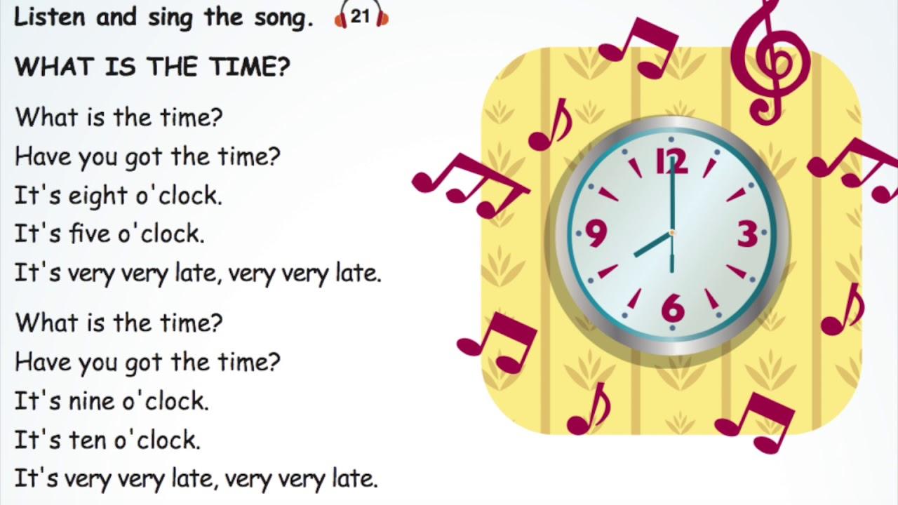 4.sınıf 5.ünite İngilizce Time şarkısı