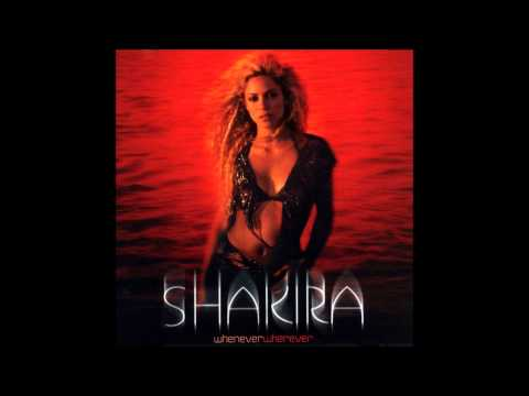 Shakira  Whenever Wherever Karaoke  Instrumental with backing vocals and lyrics