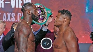 THE WEIGH-IN | Deontay Wilder vs. Luis Ortiz Rematch | Heavyweight Boxing